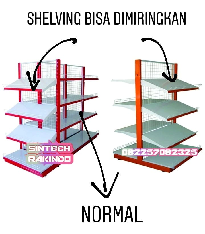 Shelving Rak Model Miring